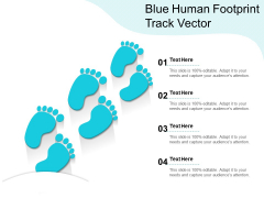 Blue Human Footprint Track Vector Ppt PowerPoint Presentation Infographics Templates PDF