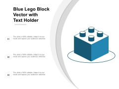Blue Lego Block Vector With Text Holder Ppt Powerpoint Presentation Infographics Display