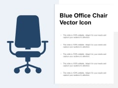 Blue Office Chair Vector Icon Ppt PowerPoint Presentation Ideas Display