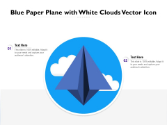 Blue Paper Plane With White Clouds Vector Icon Ppt PowerPoint Presentation Professional Smartart PDF