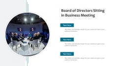 Board Of Directors Sitting In Business Meeting Ppt Professional Outline PDF