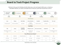 Board To Track Project Progress Ppt Powerpoint Presentation File Templates