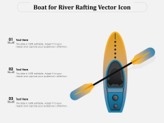 Boat For River Rafting Vector Icon Ppt PowerPoint Presentation Inspiration Microsoft PDF