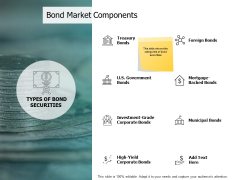 Bond Market Components Investment Ppt PowerPoint Presentation Gallery Slides