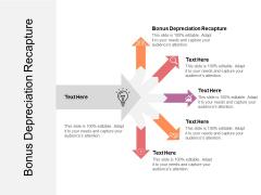 Bonus Depreciation Recapture Ppt PowerPoint Presentation Icon Example File Cpb Pdf