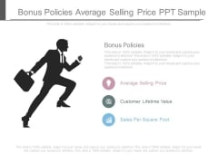 Bonus Policies Average Selling Price Ppt Sample