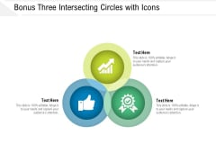 Bonus Three Intersecting Circles With Icons Ppt PowerPoint Presentation File Visuals PDF