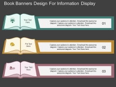 Book Banners Design For Information Display Powerpoint Template