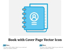 Book With Cover Page Vector Icon Ppt PowerPoint Presentation Infographics Professional