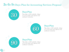 Bookkeeping 30 60 90 Days Plan For Accounting Services Proposal Ppt PowerPoint Presentation Pictures Template PDF