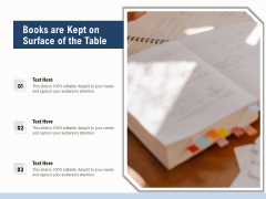 Books Are Kept On Surface Of The Table Ppt PowerPoint Presentation File Clipart PDF