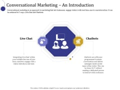Boost Marketing And Sales Through Live Chat Conversational Marketing An Introduction Ppt Gallery Show PDF