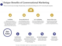 Boost Marketing And Sales Through Live Chat Unique Benefits Of Conversational Marketing Ppt Inspiration Templates PDF