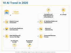 Boosting Machine Learning 10 AI Trend In 2020 Ppt PowerPoint Presentation Show Graphic Tips PDF