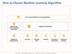 Boosting Machine Learning How To Choose Machine Learning Algorithm Ppt PowerPoint Presentation Model Slide Download PDF
