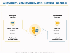 Boosting Machine Learning Supervised Vs Unsupervised Machine Learning Techniques Ppt PowerPoint Presentation Styles Graphics Download PDF
