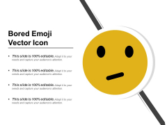 Bored Emoji Vector Icon Ppt PowerPoint Presentation Gallery Pictures PDF