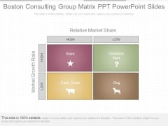 Boston Consulting Group Matrix Ppt Powerpoint Slides