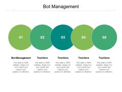 Bot Management Ppt PowerPoint Presentation Show Infographics Cpb Pdf
