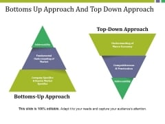 Bottoms Up Approach And Top Down Approach Ppt PowerPoint Presentation Ideas Styles