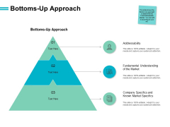 Bottoms Up Approach Location Ppt PowerPoint Presentation Show Ideas