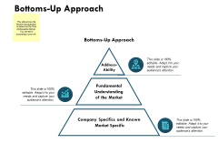 Bottoms Up Approach Ppt PowerPoint Presentation Gallery Layouts