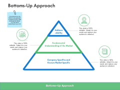 Bottoms Up Approach Ppt PowerPoint Presentation Outline Graphics Pictures