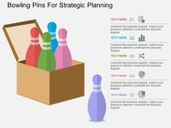 Bowling Pins For Strategic Planning Powerpoint Template
