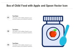 Box Of Child Food With Apple And Spoon Vector Icon Ppt PowerPoint Presentation File Infographics PDF