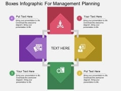 Boxes Infographic For Management Planning Powerpoint Template