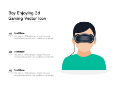 Boy Enjoying 3D Gaming Vector Icon Ppt PowerPoint Presentation File Background PDF