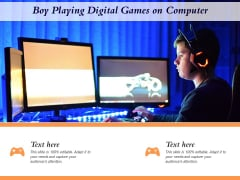 Boy Playing Digital Games On Computer Ppt PowerPoint Presentation Icon Layout Ideas PDF