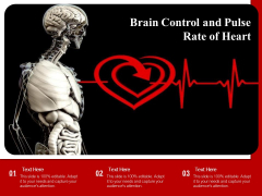 Brain Control And Pulse Rate Of Heart Ppt PowerPoint Presentation File Influencers PDF