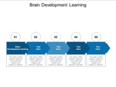 Brain Development Learning Ppt PowerPoint Presentation Styles Structure Cpb