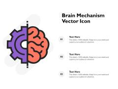 Brain Mechanism Vector Icon Ppt PowerPoint Presentation Portfolio Clipart Images