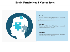 Brain Puzzle Head Vector Icon Ppt PowerPoint Presentation Outline Themes