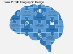 Brain Puzzle Infographic Design Powerpoint Templates