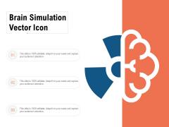 Brain Simulation Vector Icon Ppt PowerPoint Presentation Gallery Display PDF