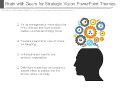 Brain With Gears For Strategic Vision Powerpoint Themes