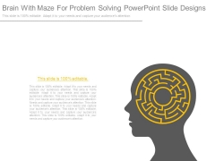 Brain With Maze For Problem Solving Powerpoint Slide Designs