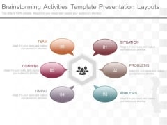 Brainstorming Activities Template Presentation Layouts