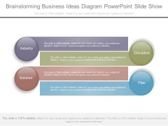 Brainstorming Business Ideas Diagram Powerpoint Slide Show