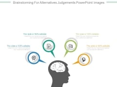 Brainstorming For Alternatives Judgements Powerpoint Images
