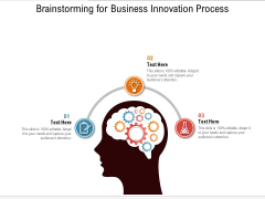 Brainstorming For Business Innovation Process Ppt PowerPoint Presentation Gallery Layouts PDF