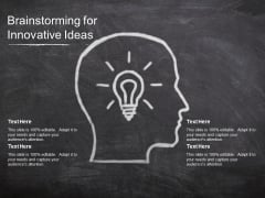 Brainstorming For Innovative Ideas Ppt PowerPoint Presentation Model Topics