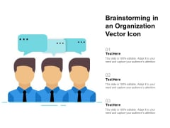 Brainstorming In An Organization Vector Icon Ppt PowerPoint Presentation Icon Files PDF