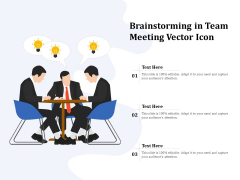Brainstorming In Team Meeting Vector Icon Ppt PowerPoint Presentation Professional Graphics Template PDF