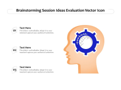 Brainstorming Session Ideas Evaluation Vector Icon Ppt PowerPoint Presentation Icon Ideas PDF