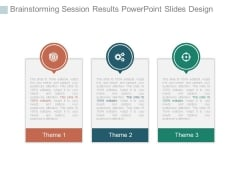 Brainstorming Session Results Powerpoint Slides Design