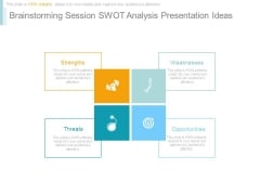 Brainstorming Session Swot Analysis Presentation Ideas